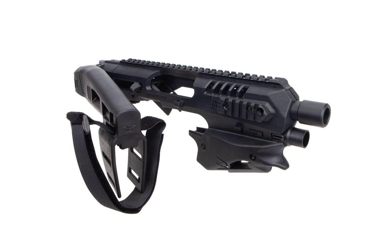 CAA Advanced Micro MCK Stabilizer Conversion Kit for Glock 17,19,19X,22,23,31,32,G45 in black folded