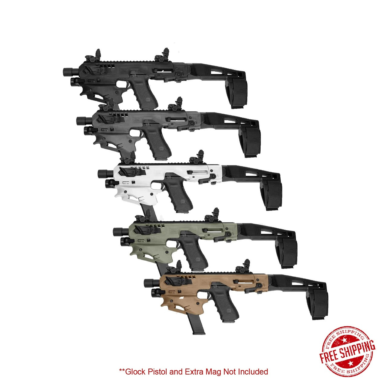 CAA Advanced Micro MCK Stabilizer Conversion Kit for Glock 17,19,19X,22,23,31,32,G45 group photo
