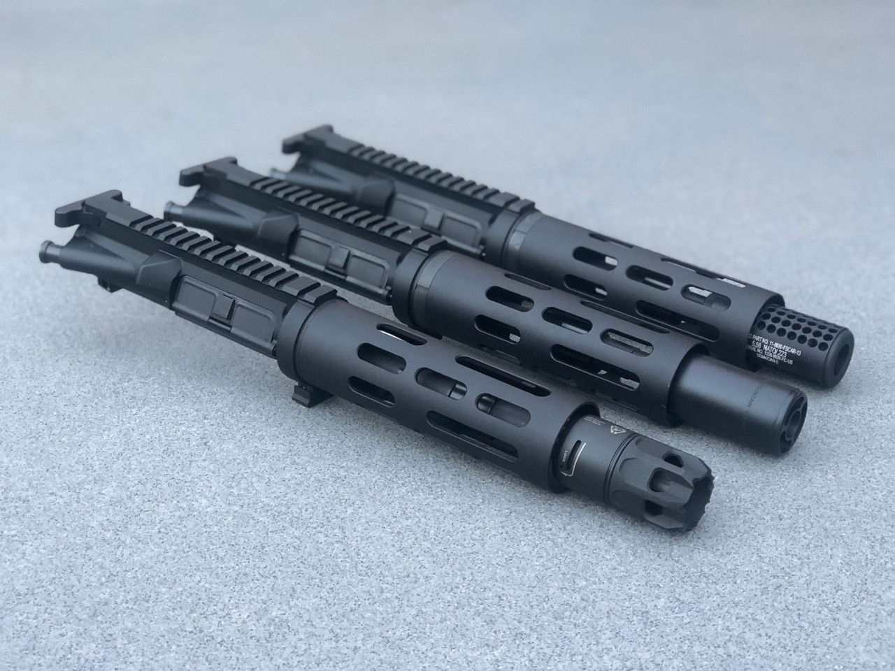 """MDX Arms 7.5""""DOLOS QD Takedown Complete Upper with Smooth HG, Strike Ind. JComp w/ Oppressor (.223/5.56/300BO)"""
