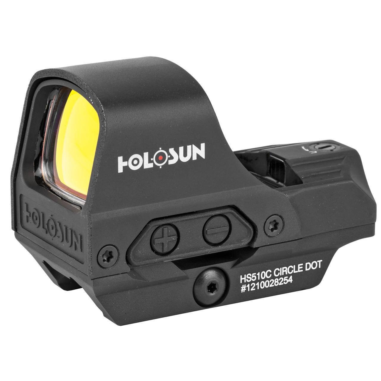 Holosun HS510C Open Reflex Solar w/ Internal Battery, Quick Release Dot Left Side View