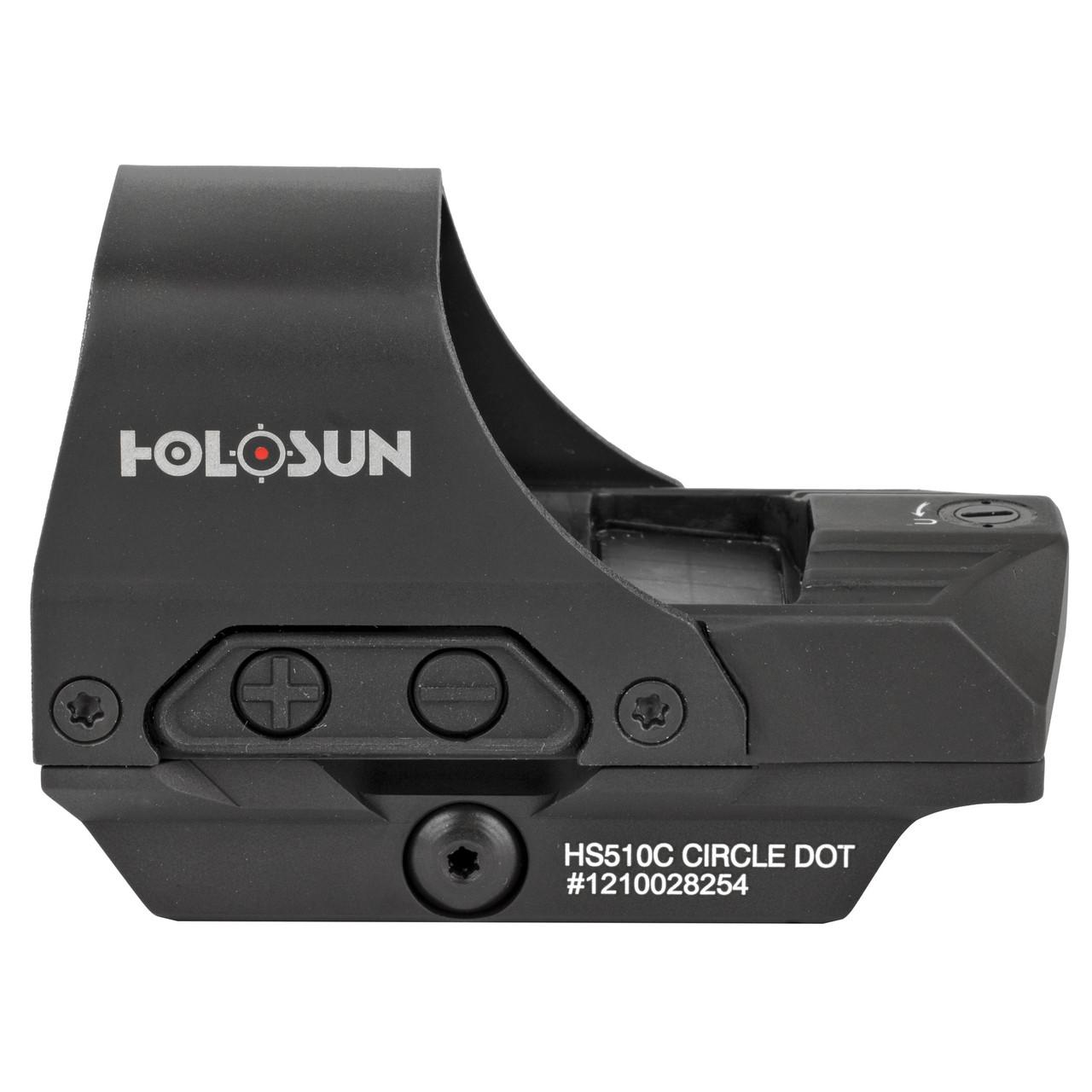 Holosun HS510C Open Reflex Solar w/ Internal Battery, Quick Release Dot Side View