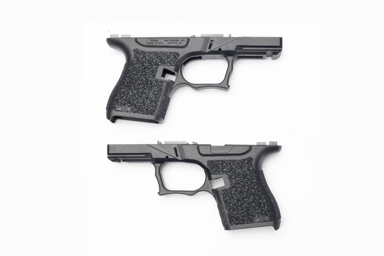 Polymer80 PFSS9 80% Textured Single Stack 9mm Pistol Frame Kit for Glock G43 07