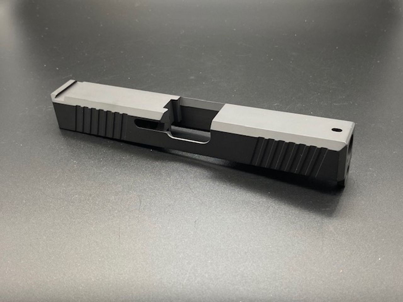MDX Arms G19 V2 9mm Stripped Slide with Front and Rear Serration - No RMR Cut