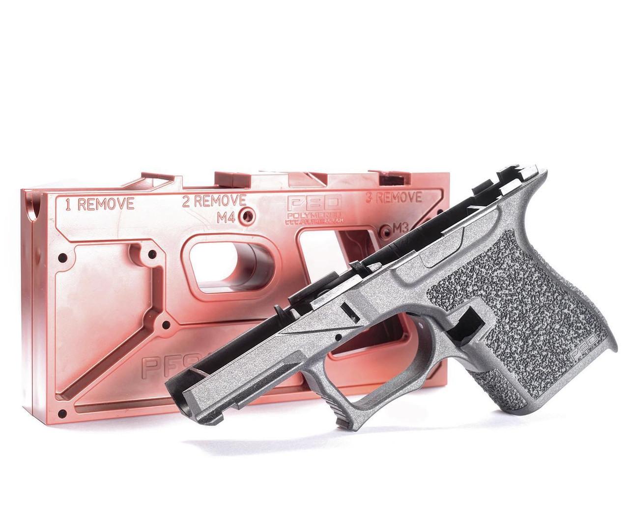 Polymer80 PFSS9 80% Textured Single Stack 9mm Pistol Frame Kit for Glock G43