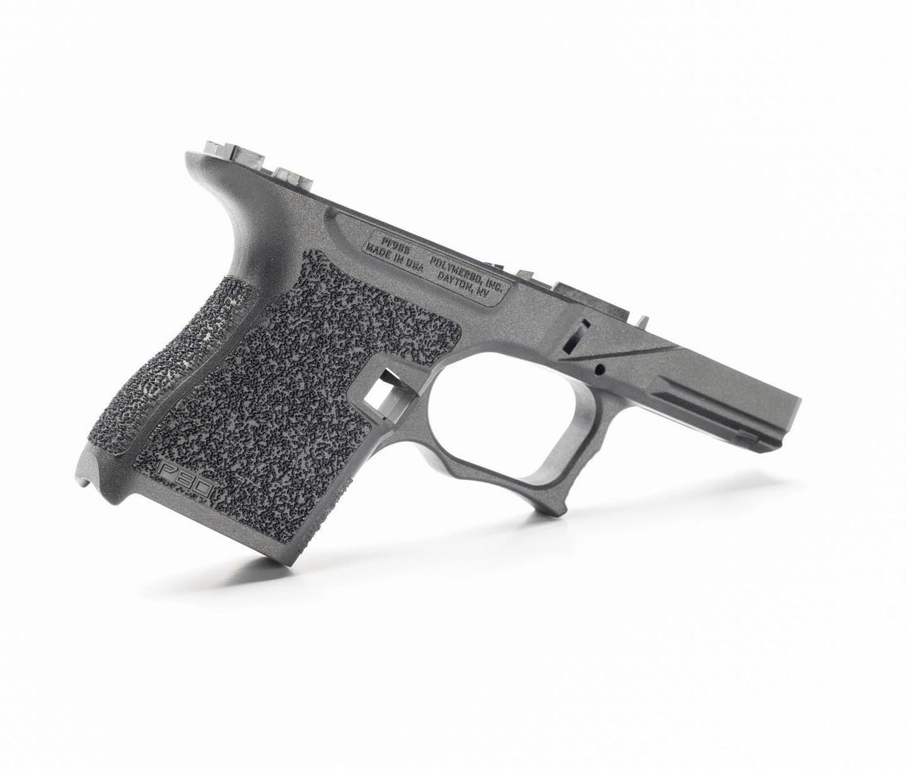 Polymer80 PFSS9 80% Textured Single Stack 9mm Pistol Frame Kit for Glock G43 bLACK FRAME