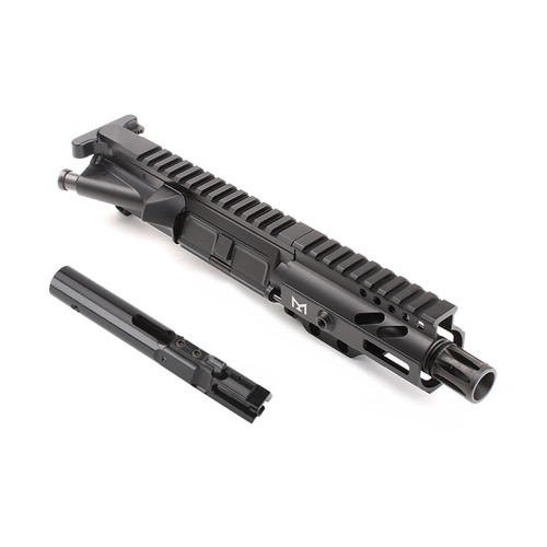 "MDX Arms AR-9mm Pistol 4.5"" 1:10T with 4' Super Slim Mlok HG with Bolt"
