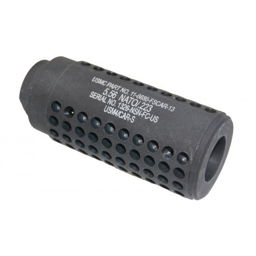 Guntec Reverse Thread Slip Over Dummy Socom Fake Suppressor Gen. 2 black for ar15
