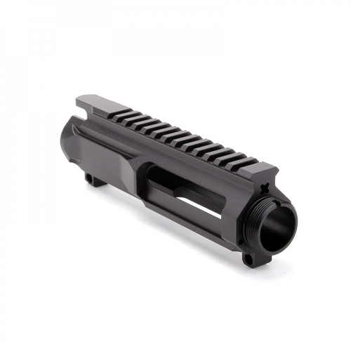 MDX Arms Cerakoted AR15 Billet Upper Receiver less Forward Assist Stripped Black left