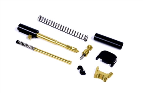 Alpha Sports TiN Gold Super Duty 9mm Slide Completion Kit (Less Guide Rod Assembly)