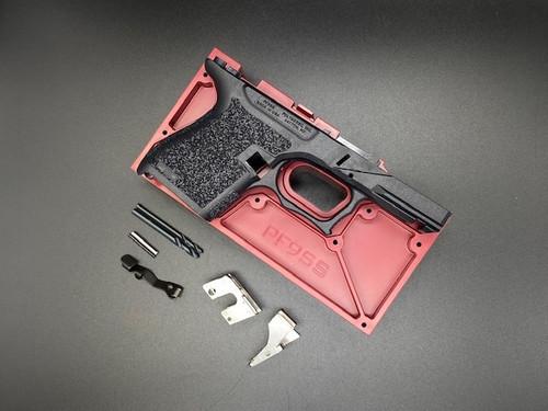 Polymer80 PF9SS 80% Textured Single Stack 9mm Pistol Frame Kit for Glock G43 Black