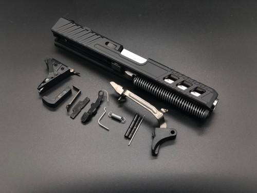 MDX Arms G21 Alpha V4 Marksman Complete Slide with LPK (less Frame) Kit for PF45 Slide Top View