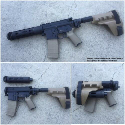 MDX Arms Complete Quick Take Down AR Pistol Featuring DOLOS and LAW Tac Side Folder (.223Wylde/5.56/300BO)