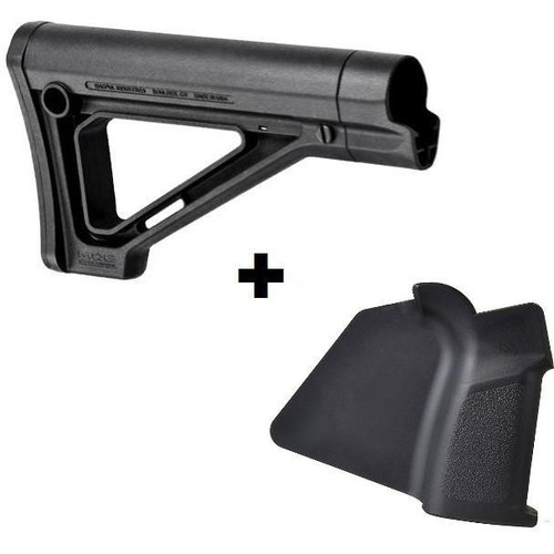 MDX Featureless Combo Magpul MOE Carbine Stock with Strike Featureless Grip - Simple Grip