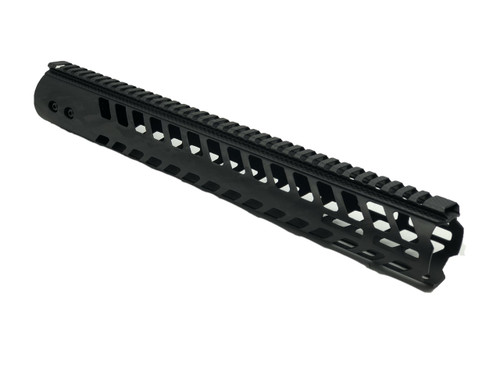 Smoke Composite 15 Carbon Fiber Mlok Handguard with Top Rail - AR15