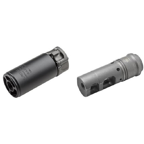 Surefire WARDEN Blast Diffuser and MB556 Muzzle Brake Combo in Black
