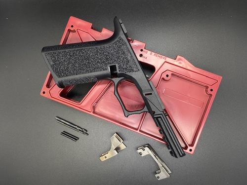 Polymer80 PF940v2 80% Textured Full Size Pistol Frame Kit for Glock Gen3 17/34/24/35
