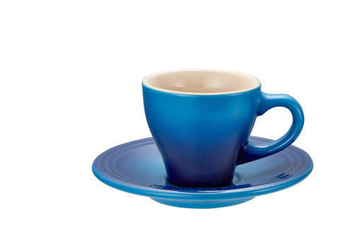 Le Creuset - Blueberry Espresso Cups and Saucers - Set of 2