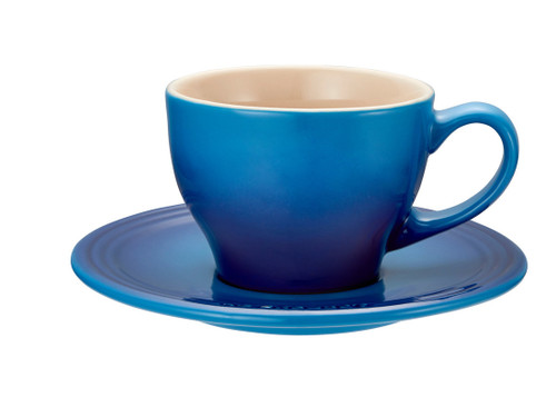 Le Creuset - Blueberry Cappuccino Cups and Saucers - Set of 2