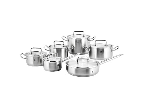 Zwilling J.A. Henckels - 12pc Twin Classic Stainless Steel Cookware Set