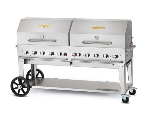 "Crown Verity - 72"" Natural Gas BBQ With Roll Dome - MCB72RDPNG"