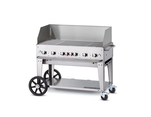"Crown Verity - 48"" Liquid Propane Mobile Grill With Wind Guard - MCB48WGPLP"