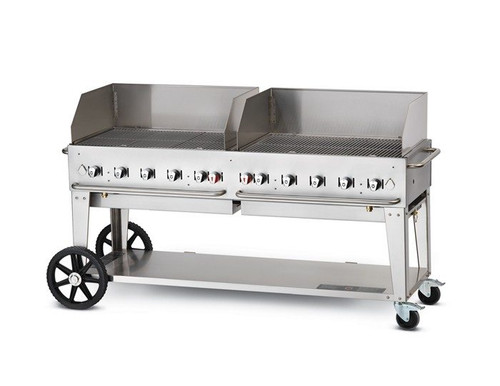 "Crown Verity - 72"" Natural Gas Mobile Grill With Wind Guard - MCB72WPGNG"