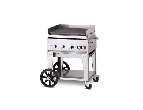 "Crown Verity - 30"" Propane Mobile Griddle W/ Splash Guard - MG30LP"
