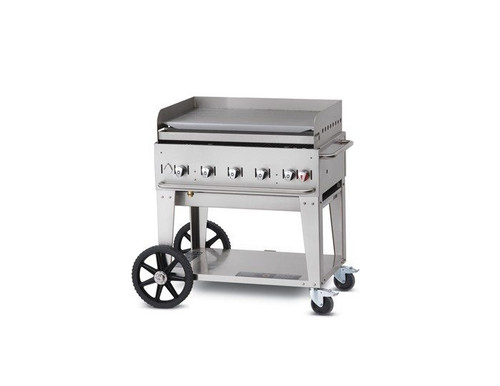 "Crown Verity - 36"" Liquid Propane Mobile Griddle W/ Splash Guard - MG36LP"