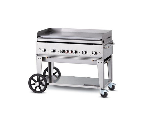 "Crown Verity - 48"" Liquid Propane Mobile Griddle W/ Splash Guard - MG48LP"