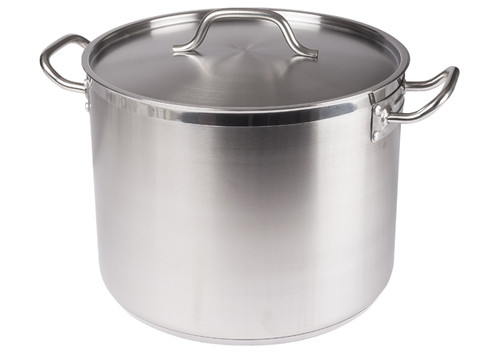 Winco - 16 Qt Stainless Steel stock Pot W/ Cover - SST-16