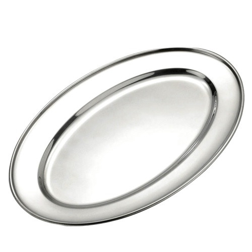 """Browne - 16"""" Oval Platter Stainless Steel - 574183"""