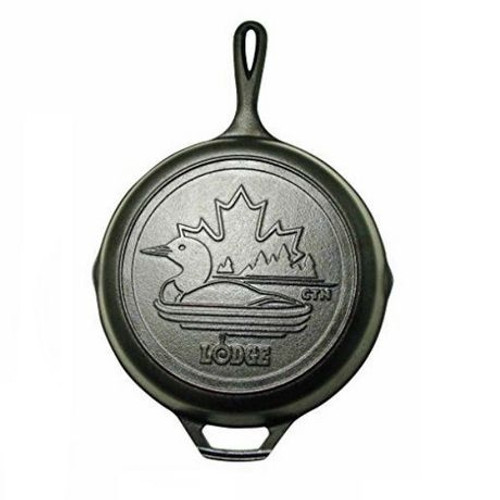 "Lodge - 10"" Pre-Seasoned Canadiana Loon Limited Edition Cast Iron Skillet"