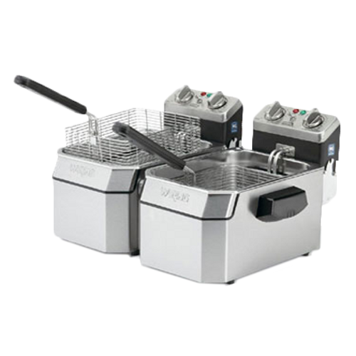 Waring - Double 10-lb. Deep Fryer - WDF1000BD