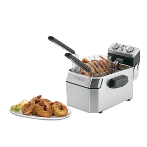 Waring - Heavy-Duty 10-lb. Deep Fryer - WDF1000