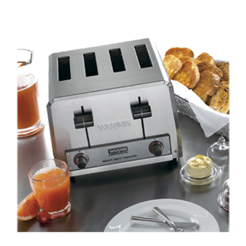 Waring - Heavy-Duty 4-Slot Toaster - WCT800RC