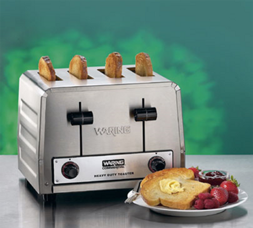 Waring - Heavy-Duty 4-Slot Toaster - WCT800