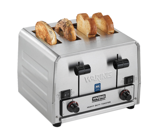 Waring - Heavy-Duty Switchable Bread & Bagel Toaster - WCT850