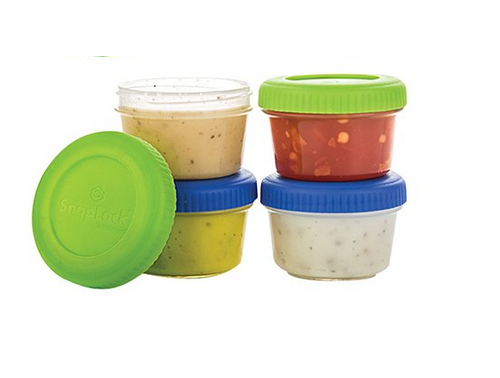 Progressive - Snap Lock 1oz. Dressing To-Go Container - Set of 4