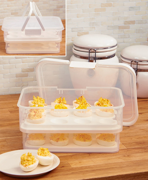 Progressive - Snap Lock Collapsible Deviled Egg Carrier - SNL1013W