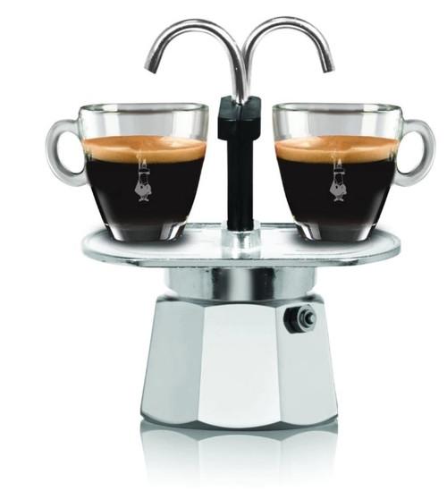 Bialetti - Moka 2 Cup Mini Aluminum Stove Top Espresso Maker - 6794