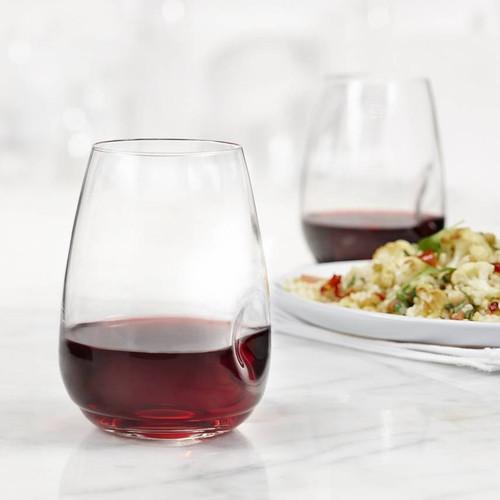 Trudeau - 16 Oz GEM Stemless Wine Glasses Set of 4 - 4900842