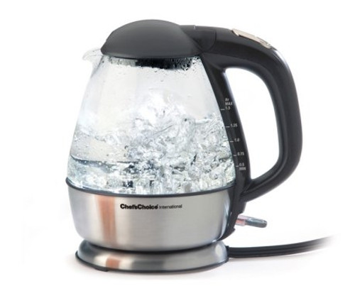 Chef's Choice - 1.5-Qt. Electric Glass Kettle - 680