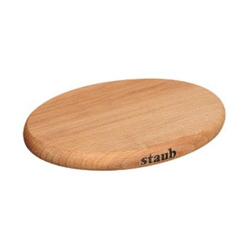 "Staub - 11"" x 8"" (29cm x 20cm) Wooden Oval Magnetic Trivet"