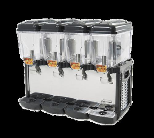 Cofrimell - Quadruple 3 Gallon Commercial Juice Dispenser - CD4J