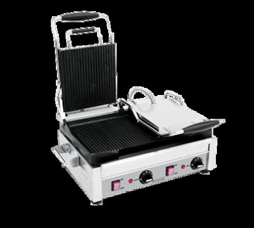 "Eurodib - Large Flat Panini Grill 18"" x 11"" Cooking Surface 220V 2900W - SFE02360-240"