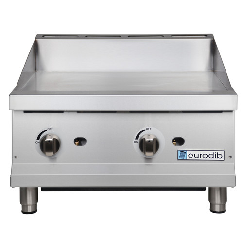 "Eurodib - 24"" Manual Control Gas Griddle 60,000 BTU - T-G24"