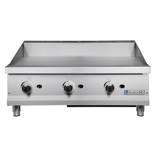 "Eurodib - 36"" Manual Control Gas Griddle 90,000 BTU - T-G36"
