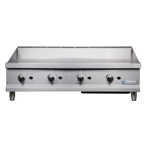 "Eurodib - 48"" Manual Control Gas Griddle 120,000 BTU - T-G48"