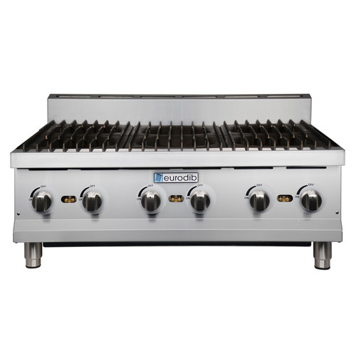 Eurodib - 6 Burner Hot Plate 180,000 BTU - T-HP636