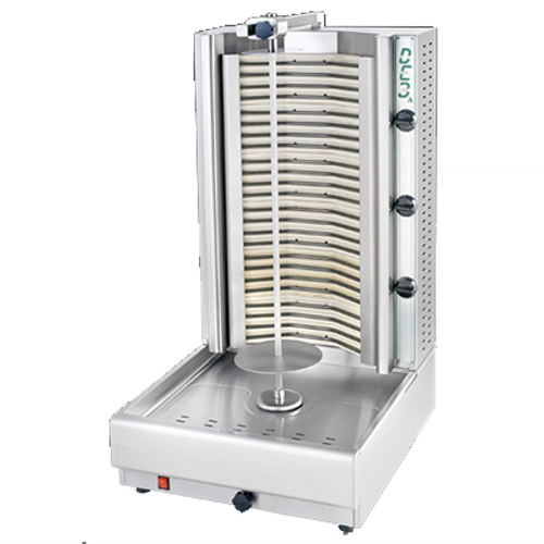 Visvardis - 90 - 140 Lbs Capacity Electric Gyro & Shawarma Machine 208-240 V 9900 W - DE3A